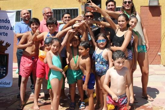 Encuentro de Natación Municipal reunió a niñas y niños de Putaendo, San Felipe y Rinconada de Los Andes