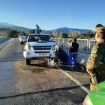 Reventón de neumático y hielo en calzada origino accidente en Puente Putaendo