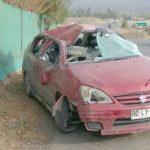 Una mujer y dos niños resultaron heridos en volcamiento de vehículo en sector El Asiento