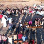 Rogativa por la lluvia congregó a más de 200 fieles en el sector tres puentes