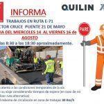 Vialidad cambia para próximo Viernes trabajos en Punta el Olivo