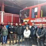 Bomberos de Putaendo y Cabildo se reúnen para coordinar eventuales emergencias en carretera que une ambas localidades