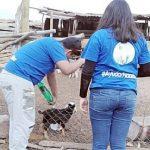 Universidad de  Aconcagua llego con ayuda a  crianceros del Manzano